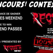 CONCOURS – CONTEST Deux passes weekend à gagner pour le Requiem FearFest / Festival Requiem.
